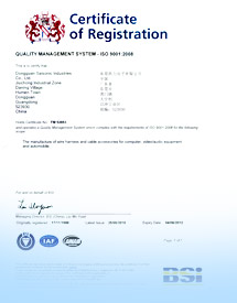ISO/TS 16949 Accreditation Certificate